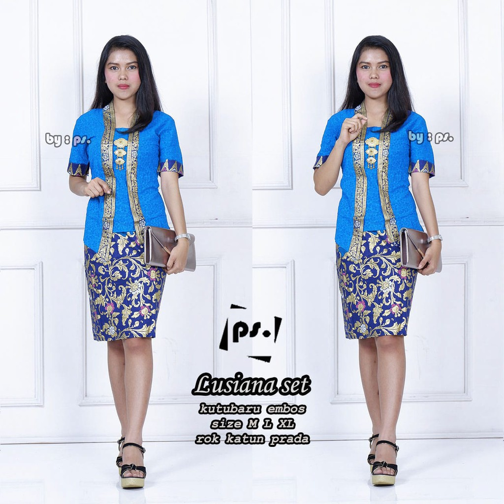 Lusiana Fashion Wanita Model Baju Batik Modern Model Dress Batik