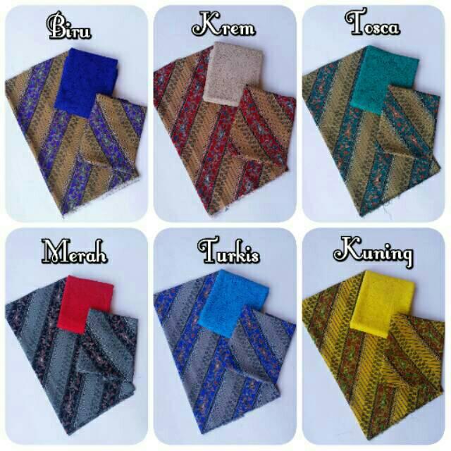 Bahan Kain Kebaya Set Couple Satin Batik Liris dan Brokat Sofia Standard | Shopee Indonesia