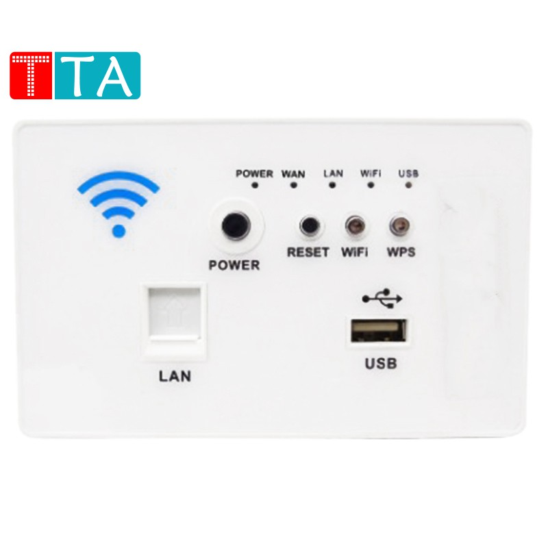 Wireless Router MiFi Wall Wi-Fi AP Router Panel WiFi Swith Repeater USB Charging