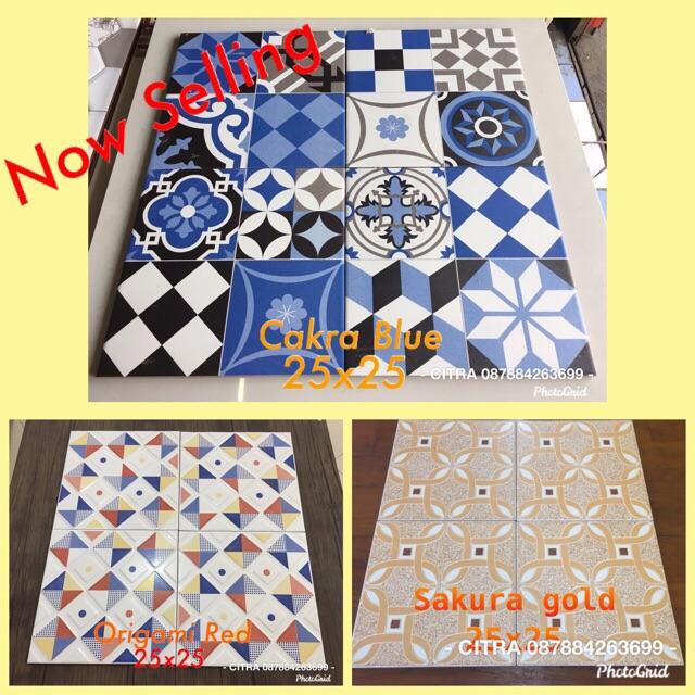 Keramik Lantai Kamar Mandi Kia 25x25 Shopee Indonesia