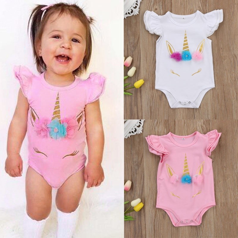 Toddler Infant Baby Girls Kids Outfit Bodysuit Romper Jumpsuit Sunsuit Clothes
