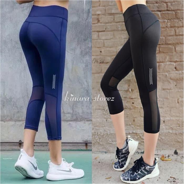 Jual Celana Legging Capri 3 4 Sport Gym Fitness Senam Olahraga Wanita Murah Shopee Indonesia