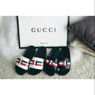 d3c13c144 Gucci Leather Mid-Heel Pearl Loafers | Shopee Indonesia