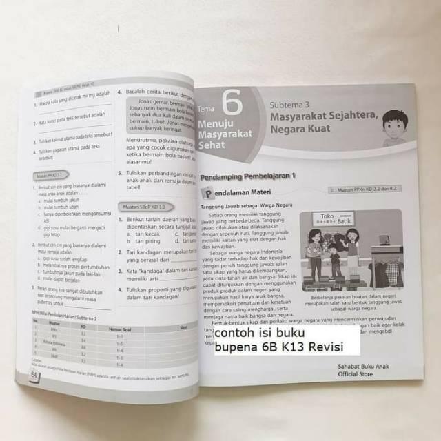 Bupena Buku Penilaian Erlangga Kelas 6 A B C D K13 6a 6b 6c 6d Shopee Indonesia
