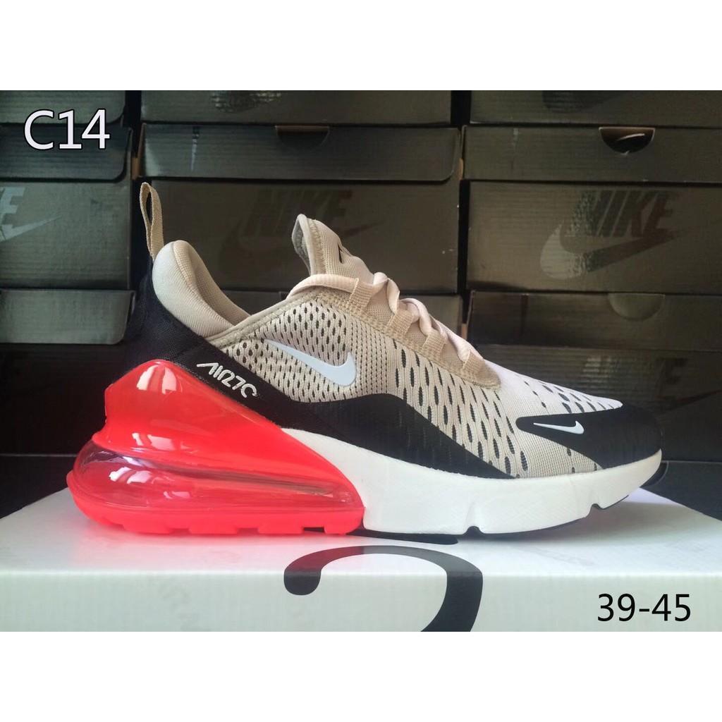 Original Sepatu Nike Air Max 270 Pria wanita Running Wanita Olahraga  outdoor Sneakers 14 color  2d272a12d2