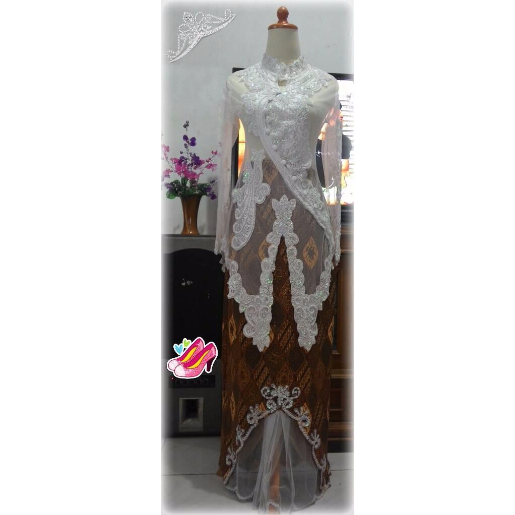 EXCLUSIVE Set Kebaya Shanghai Payet Tile Rok Tirai Kamisol HIGH QUALITY  UNGGULAN  154cf76d7a
