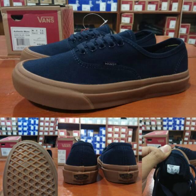 0b3f941988c Sepatu Vans Authentic Dress Navy Blue Biru Dongker Sole Gum - Original PREMIUM  Waffle DT BNIB IMPORT