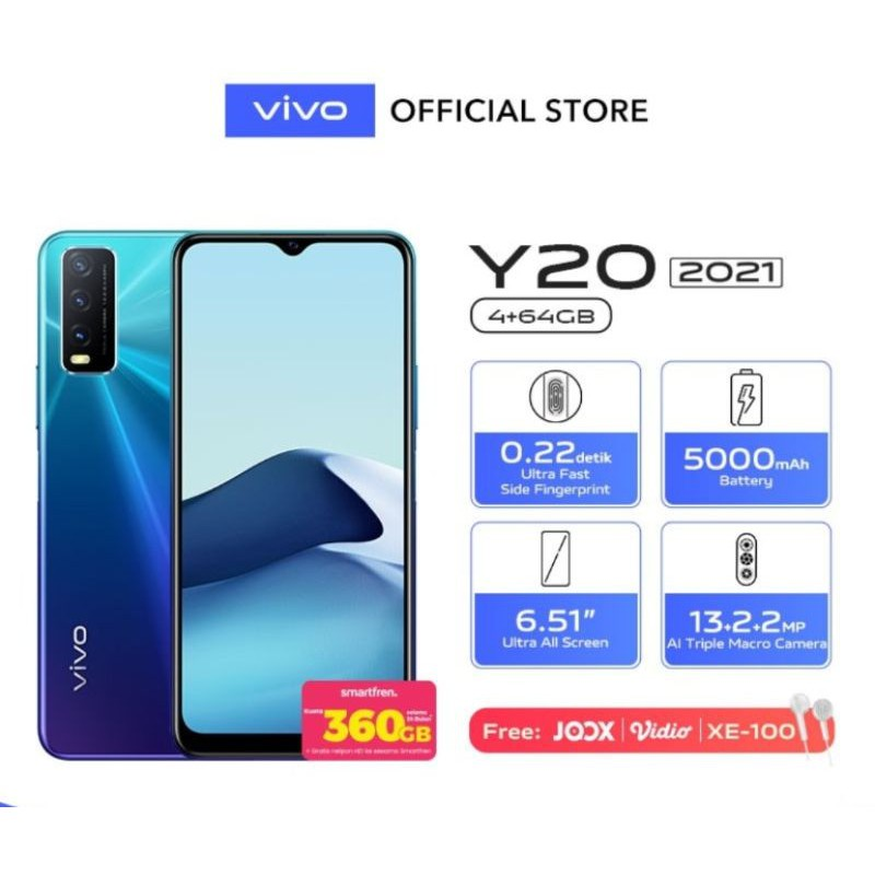 SECOND VIVO Y20(2021) ram 4/64 no minus