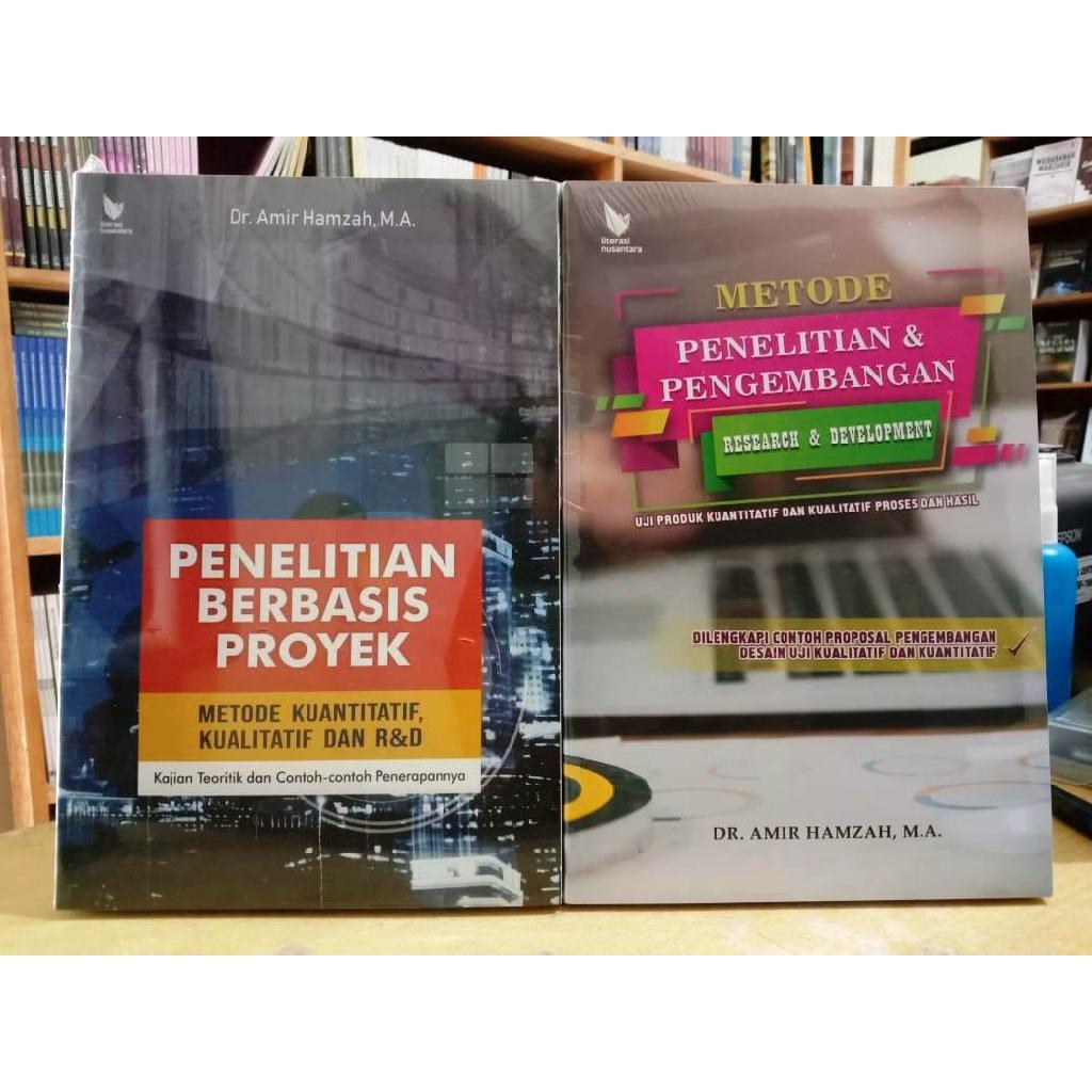 Paket 2 Buku Research And Development Penelitian Pengembangan R D Amir Hamzah Shopee Indonesia