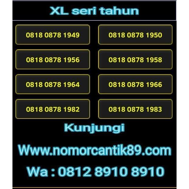 Nomor cantik xl   Shopee Indonesia -