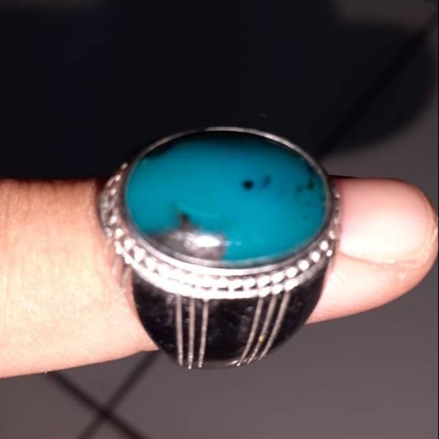 Batu bacan, bacan Doko, ring titanium, batu cincin, bacan biru, batu akik,