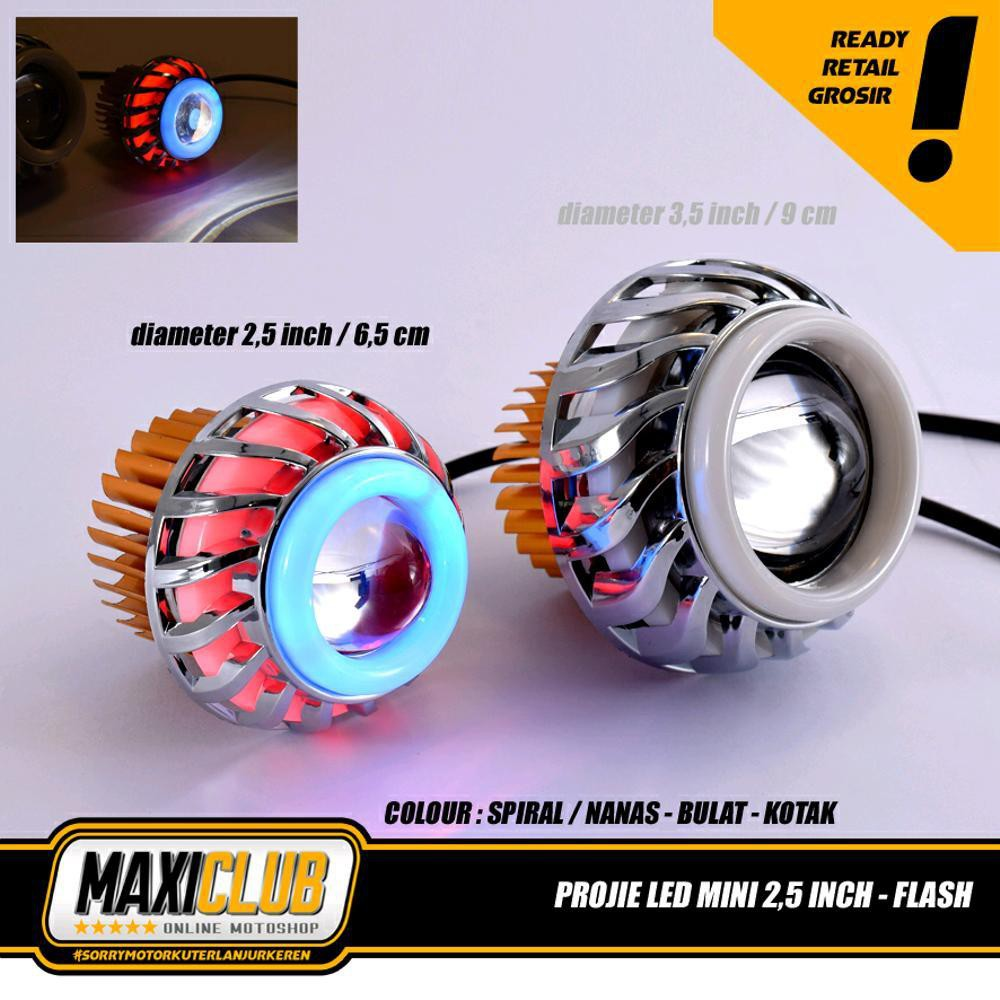 Lampu Projie U27R Mini RRB Rainbow 3 Inch Angel Bulat Running WMP-0572 | Shopee Indonesia