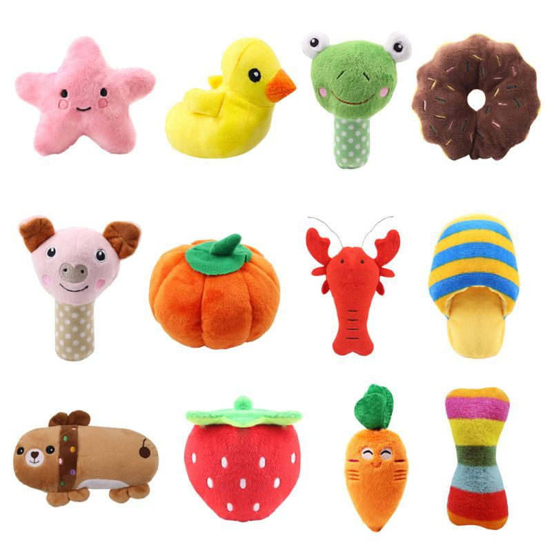 Set Of Dog Stuffed Animals, Yys 12 Pack Puppy Squeaky Plush Dog Toys Set For Small Dogs Bite Colorful Pet Play Shopee Indonesia
