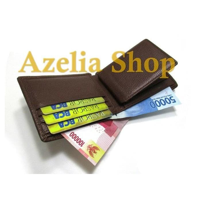 DISKON MURAH dompet kulit pria asli sapi murah kartu lipat premium polos garut   d6bd63359d