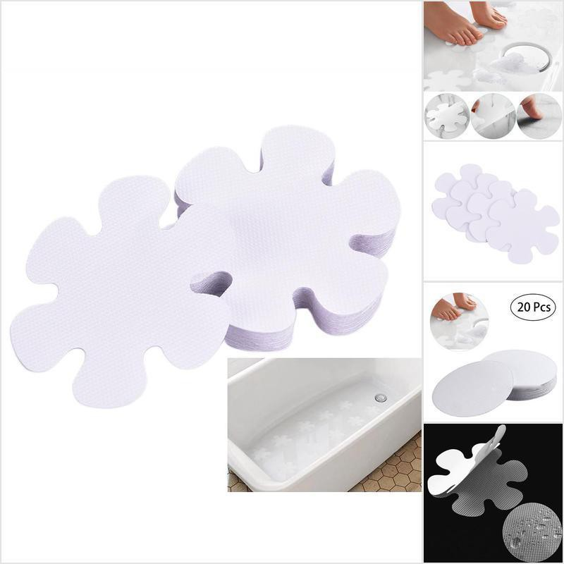 20 Flower Safety Treads Non-Slip Applique Stickers Decals Mat Bath Tub/&Shower