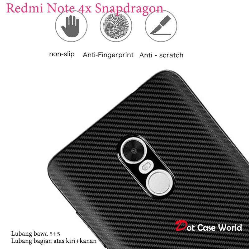Fit Carbon Redmi Note 4x Snapdragon Soft Back Case Premium | Shopee Indonesia