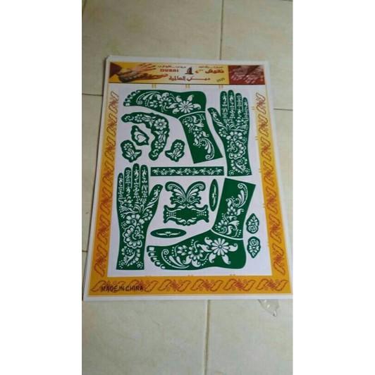 Cetakan Henna Hena Tangan Dan Kaki 1 Set Shopee Indonesia