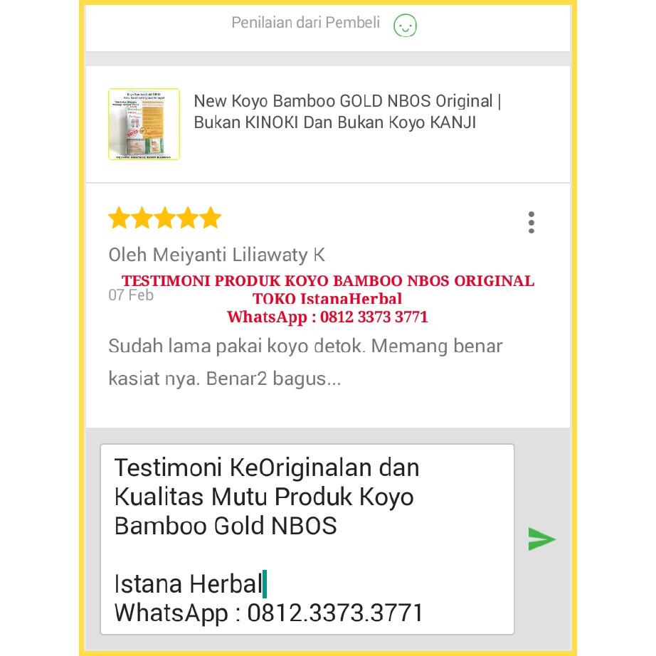 Koyo Kaki New Bamboo Gold Foot Patch Nbos Original Shopee Indonesia Kinoki Penyerap Racun Tubuh