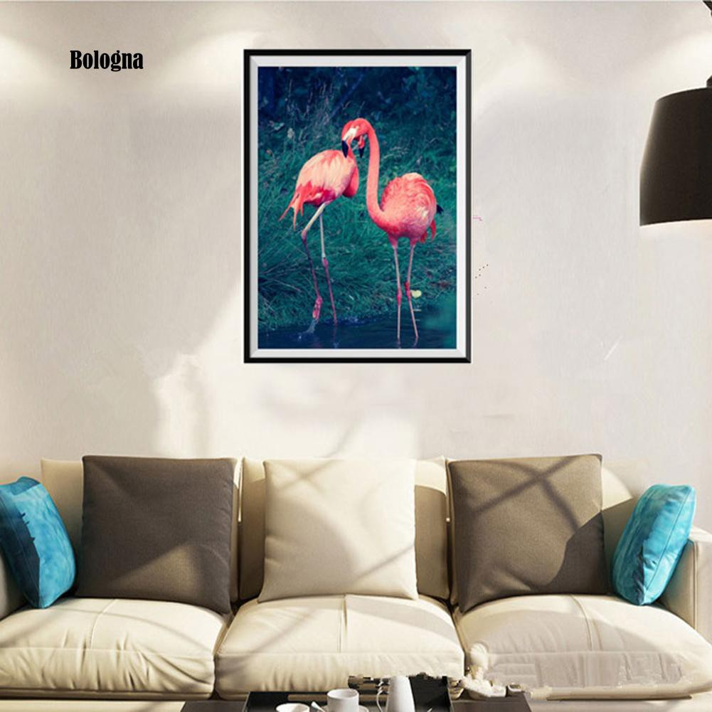 Diy Lukisan Diamond 5d Dengan Gambar Burung Flamingo Dan Hiasan