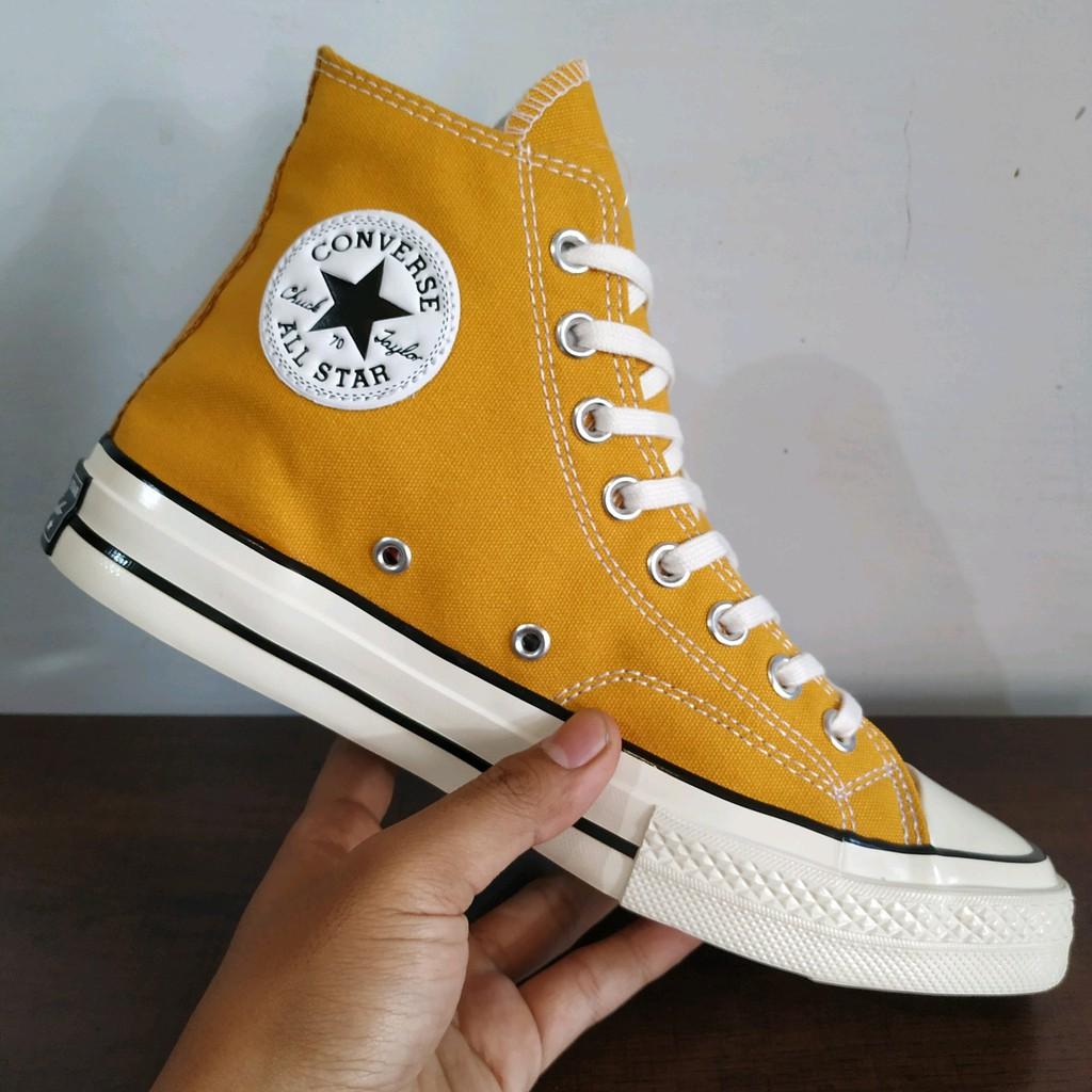 100 Premium Bnib Sepatu Converse All Star Ct 70s Egret Sunflower