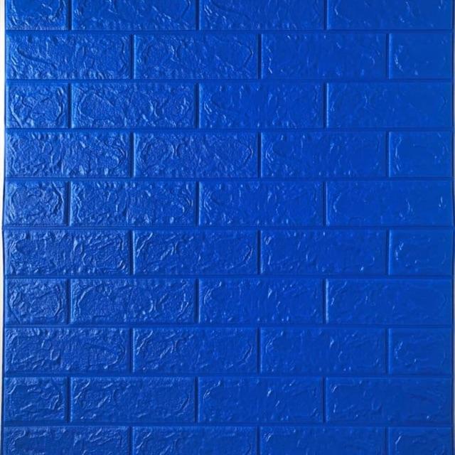 Wallpaper 3D Foam Brick Bata Biru Tua