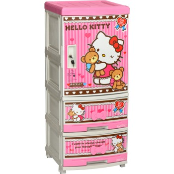 Lemari Plastik Napolly Hello Kitty 3 Pintu Nca 522 Ktbf Shopee