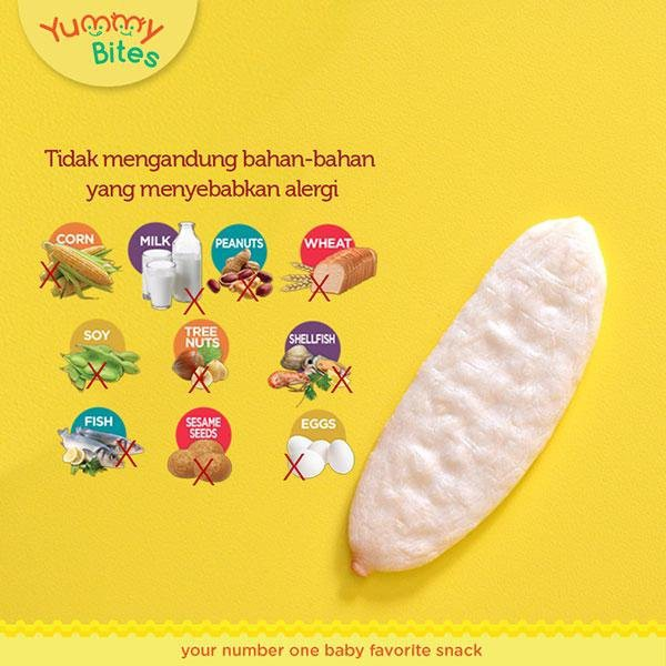 Biskuit Bayi Yummy Bites Rice Crackers 25 50 gr