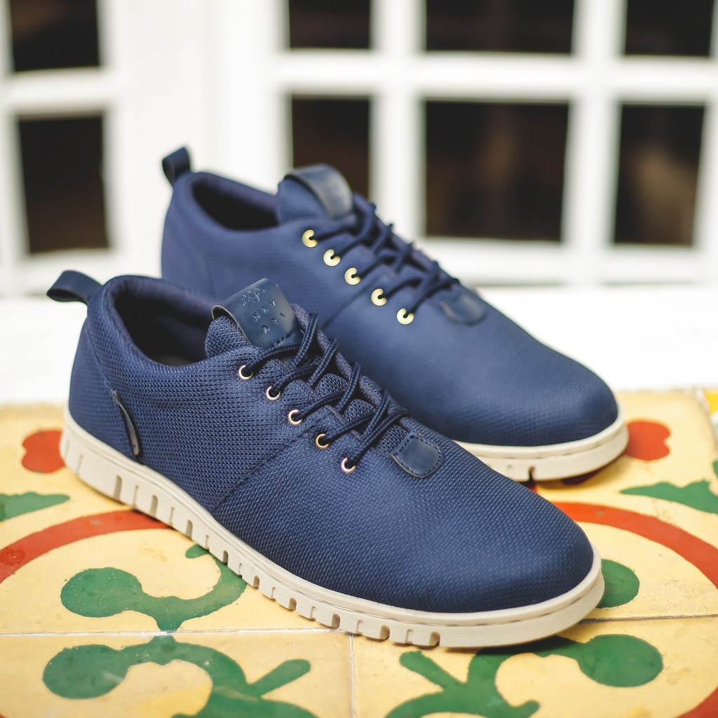 Dr Kevin Mens Sneakers 13341 Blue Shopee Indonesia Men Casual Shoes 13361 Black Hitam 39
