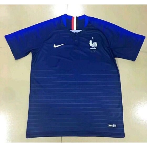 28c969beed6 JERSEY BOLA FRANCE PRANCIS HOME WORLD CUP PIALA DUNIA 2018 GRADE ORI ...