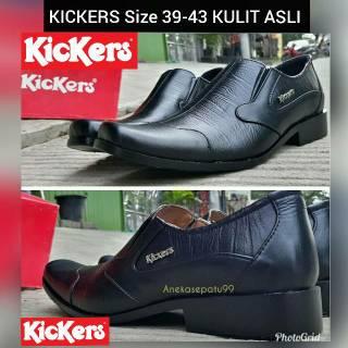 Sepatu Pantofel Kickers Kulit Asli - Sepatu Kerja Pria - Sepatu Formal - Sepatu  Kulit Kickers  034976dc29