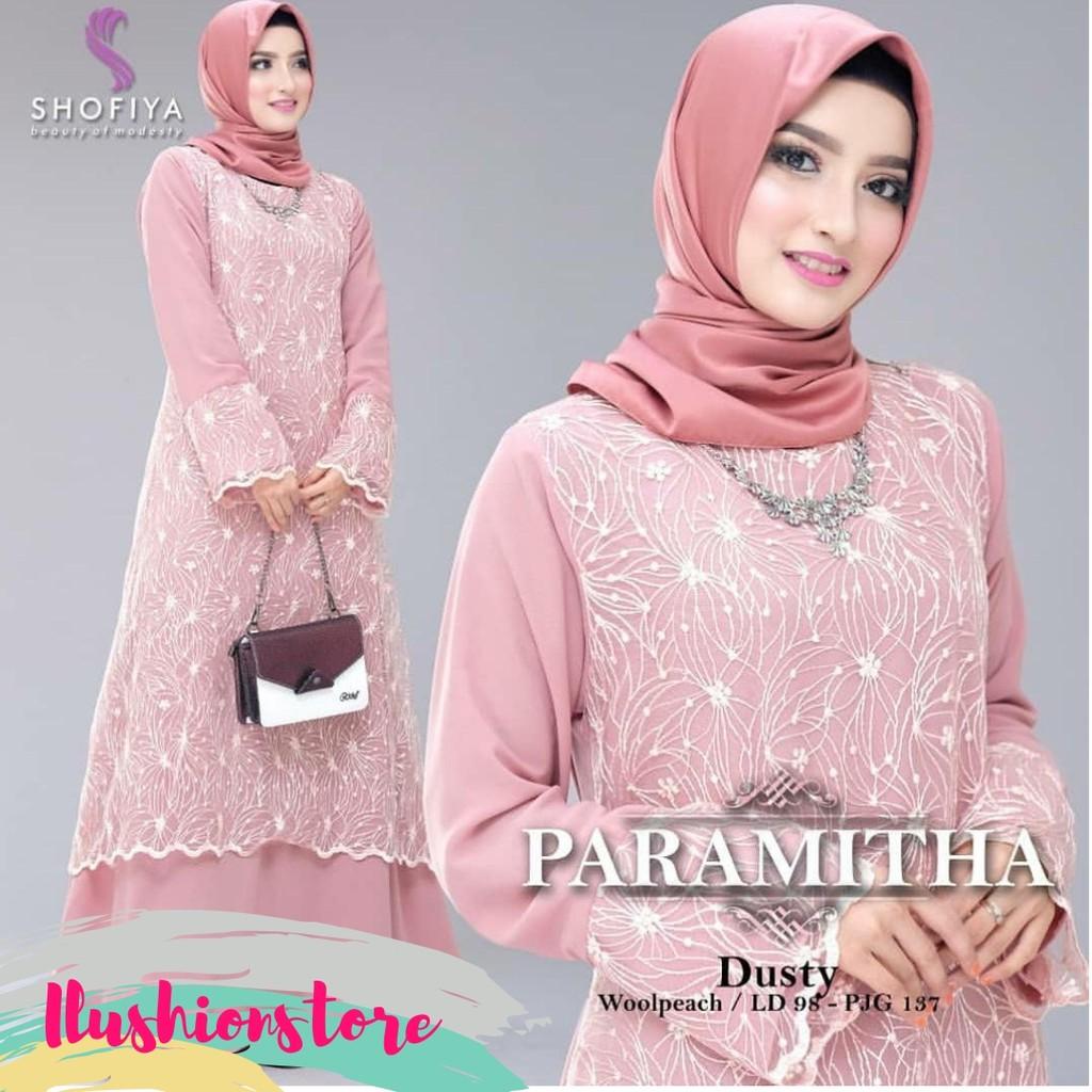 Baju Gamis Pesta Paramitha Dress Brukat Gamis Brokat Murah Motif Baju  Muslim Wanita