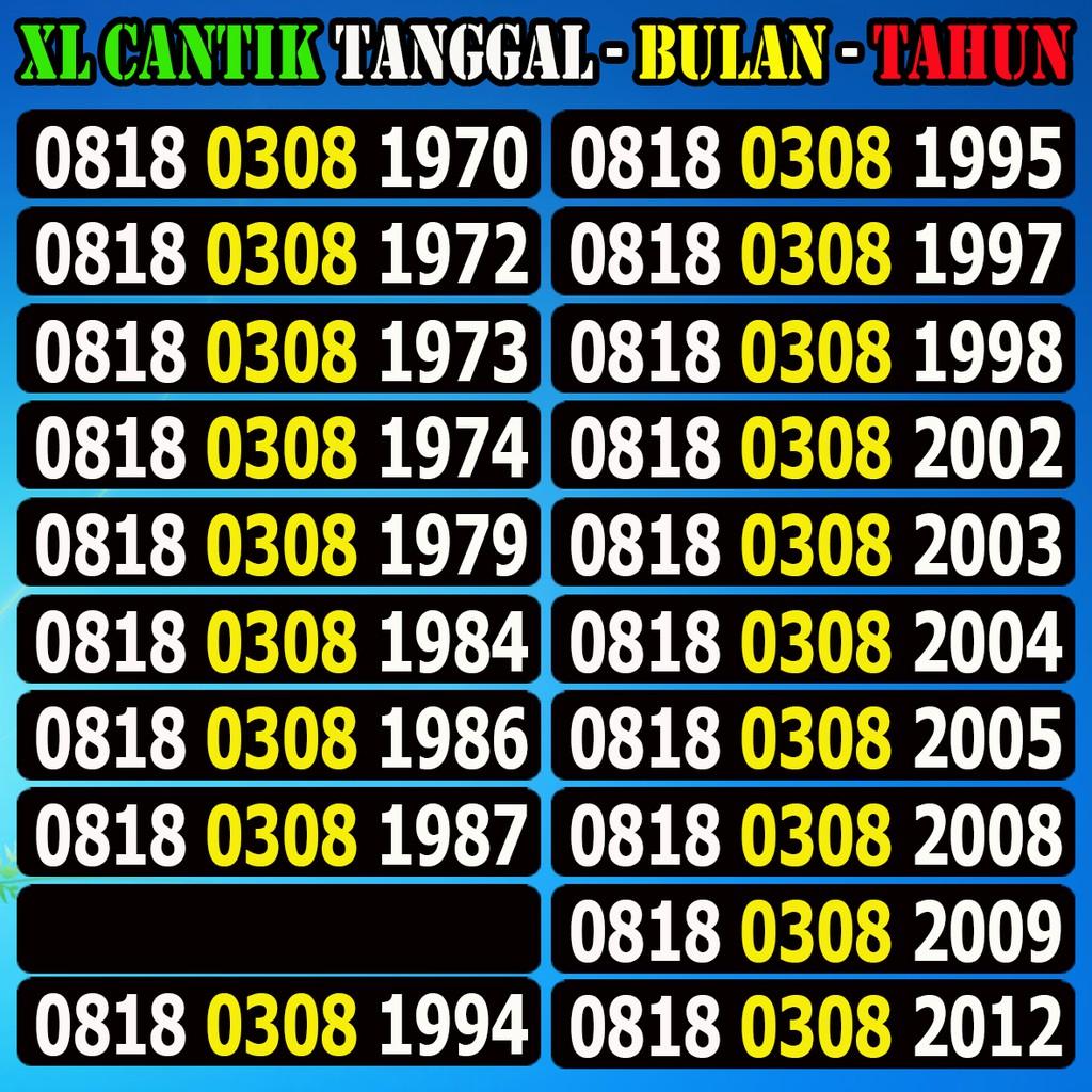 Nomor Cantik XL Seri Djadoel 0818 Rapih Termurah   Shopee Indonesia -