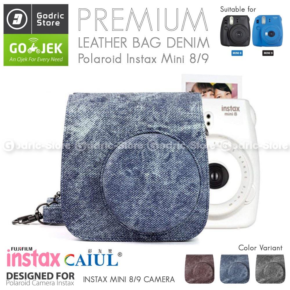 Promo Awal Tahun | Fujifilm Kamera Instax Mini 9 Leather Bag / Tas / Case Polaroid Camera - Hitam | Shopee Indonesia