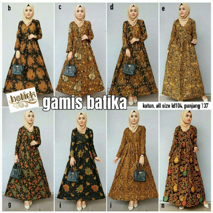 Long Dress Batik Gamis Batika Dress Hijab Couple Dress Batik Baju Pesta Baju Syari Model Baru