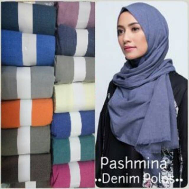 Pashmina Denim Rawis Shopee Indonesia