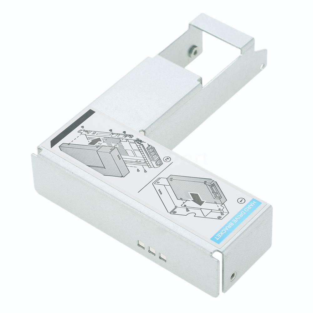 """3.5/"""" Tray Caddy w//2.5/"""" Adapter Bracket For PowerEdge R310 R320 R410 G302D 0G302D"""