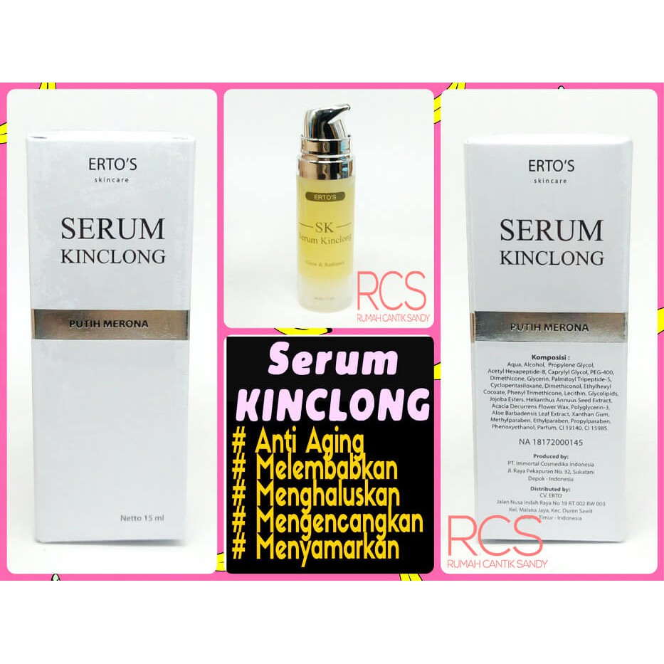 Promo 7 Days Deals Ertos Serum Kinclong Original Bpom 100 Shopee Indonesia