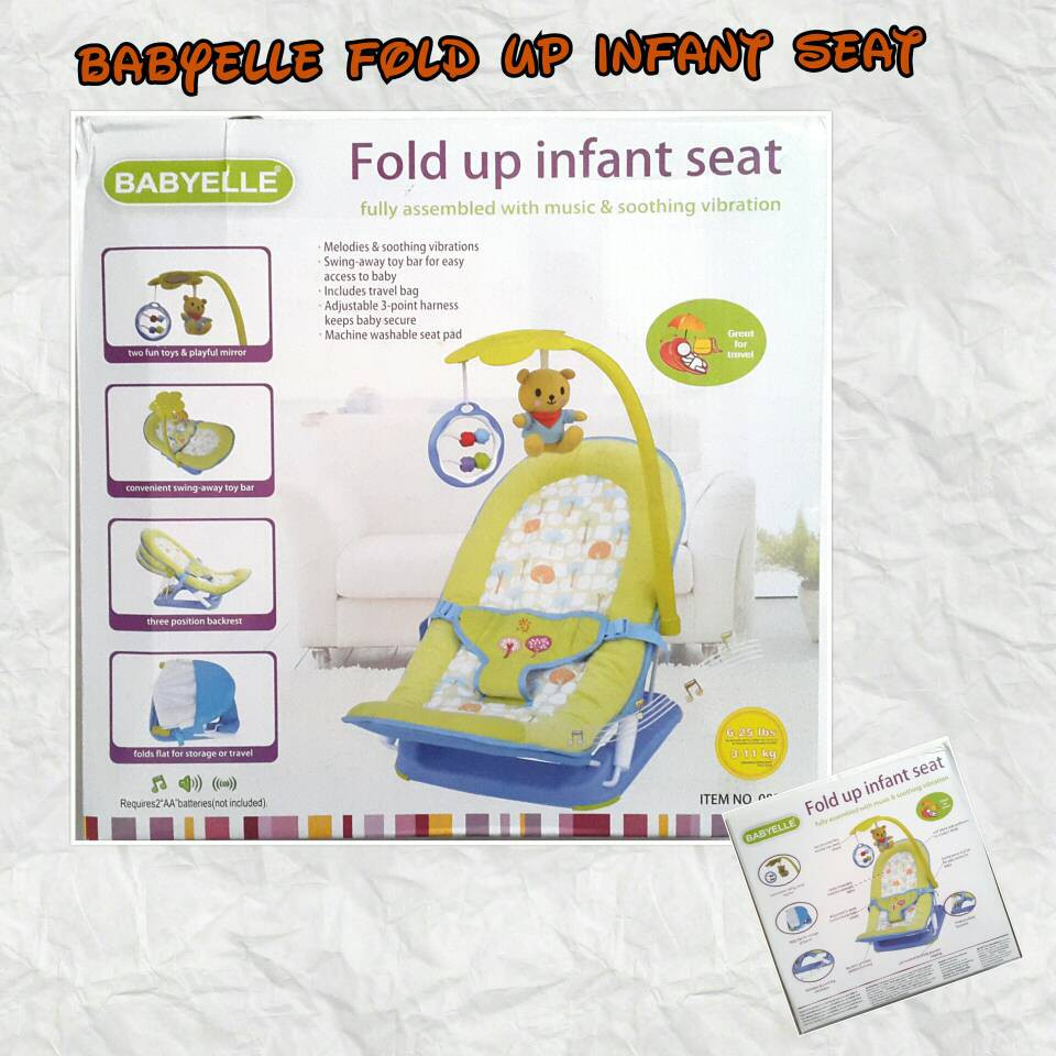 Babyelle Fold Up Infant Seat (Bouncher) | Shopee Indonesia