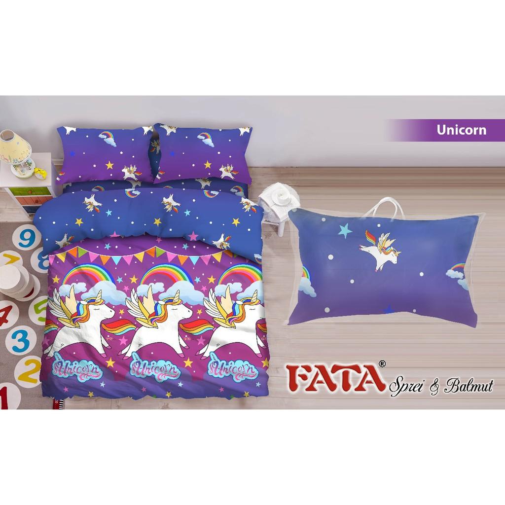 Bed Cover King Fata Unicorn Shopee Indonesia