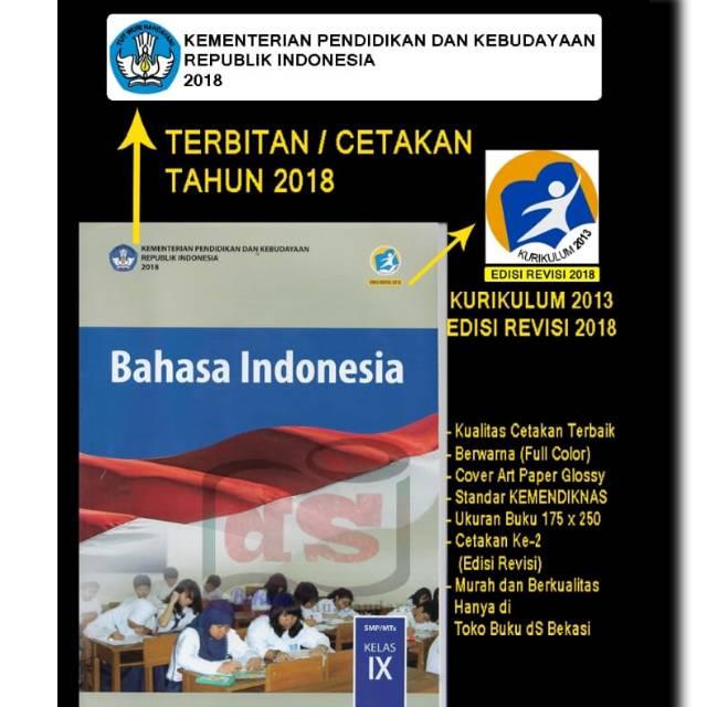 Buku Bahasa Indonesia Kelas 9 K2013 Edisi Revisi 2018 Shopee Indonesia