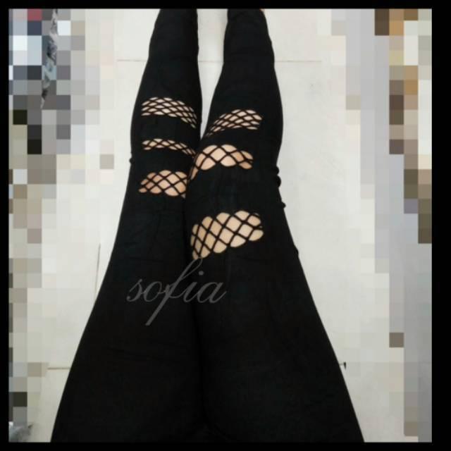 Leggings Legging Jaring Legging Net Legging Sobek Leging Bolong Legging Wanita Legging Import Shopee Indonesia