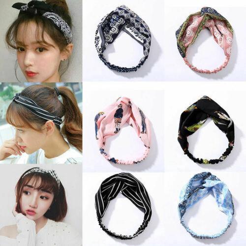 Women Korean Fashion Turban Twist Knot Headwrap Knotted Elastic Yoga Hairband thumbnail