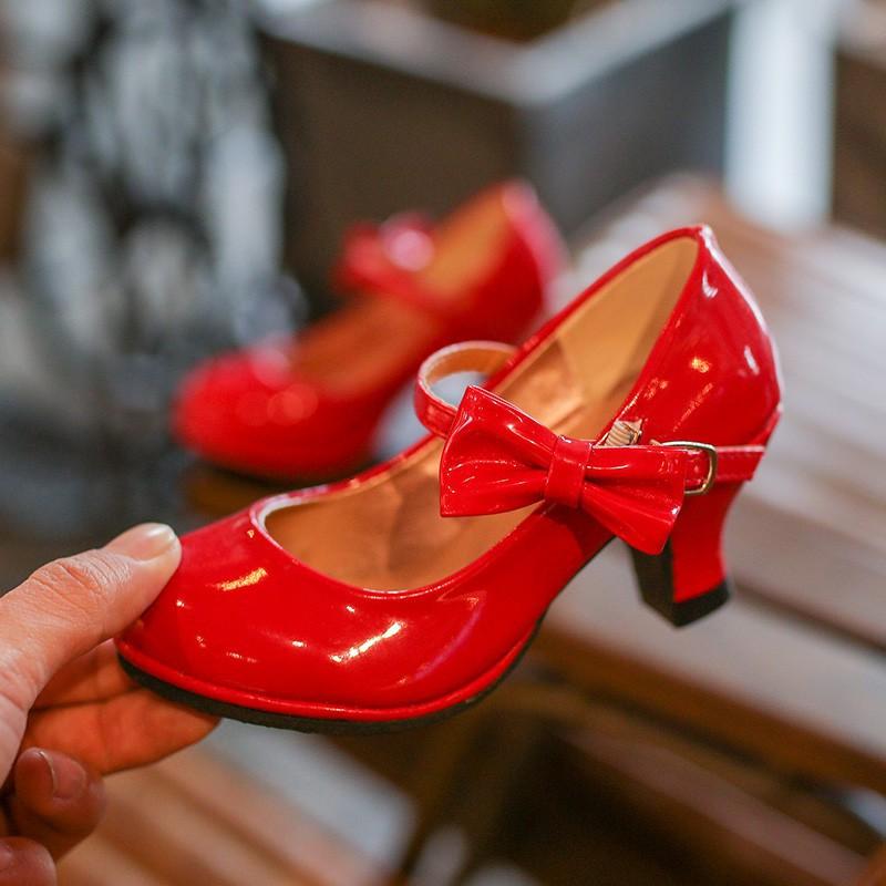 Kecil Imut Cantik Kado Baby 12 12 Elegan Bayi Oo Logu Sepatu Pesta Anak Hak Tinggi Shopee Indonesia