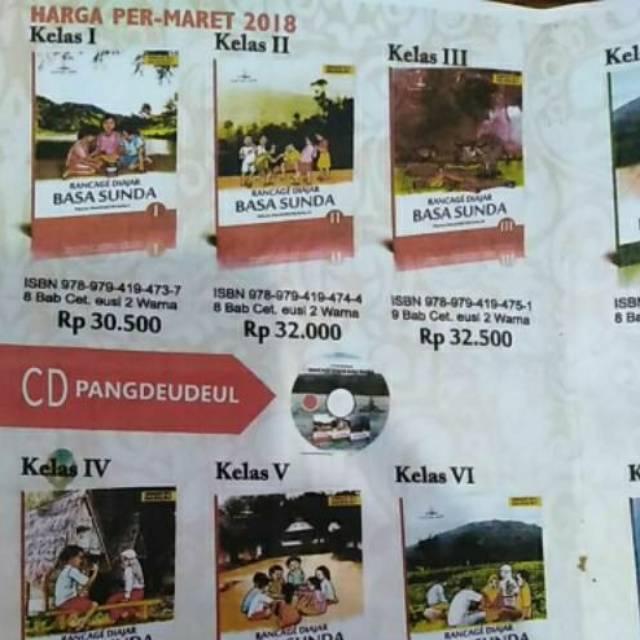 Rancage Diajar Basa Sunda Sd Kelas 1 2 3 4 5 6 Buku Bahasa Sunda Sd Buku Paket Basa Sunda Shopee Indonesia