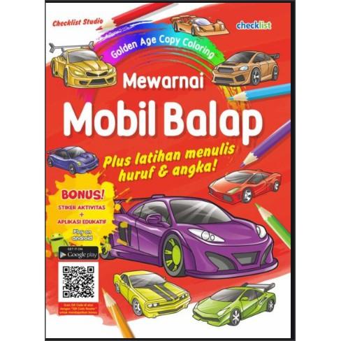 Mewarnai Mobil Balap Golden Age Copy Coloring Shopee Indonesia