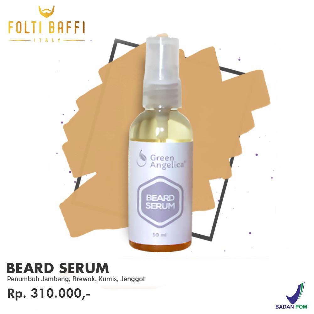 Serum Penumbuh Brewok Jambang Kumis Ampuh Cepat Aman Tanpa Efek Samping Beard Serum Green Angelica | Shopee Indonesia