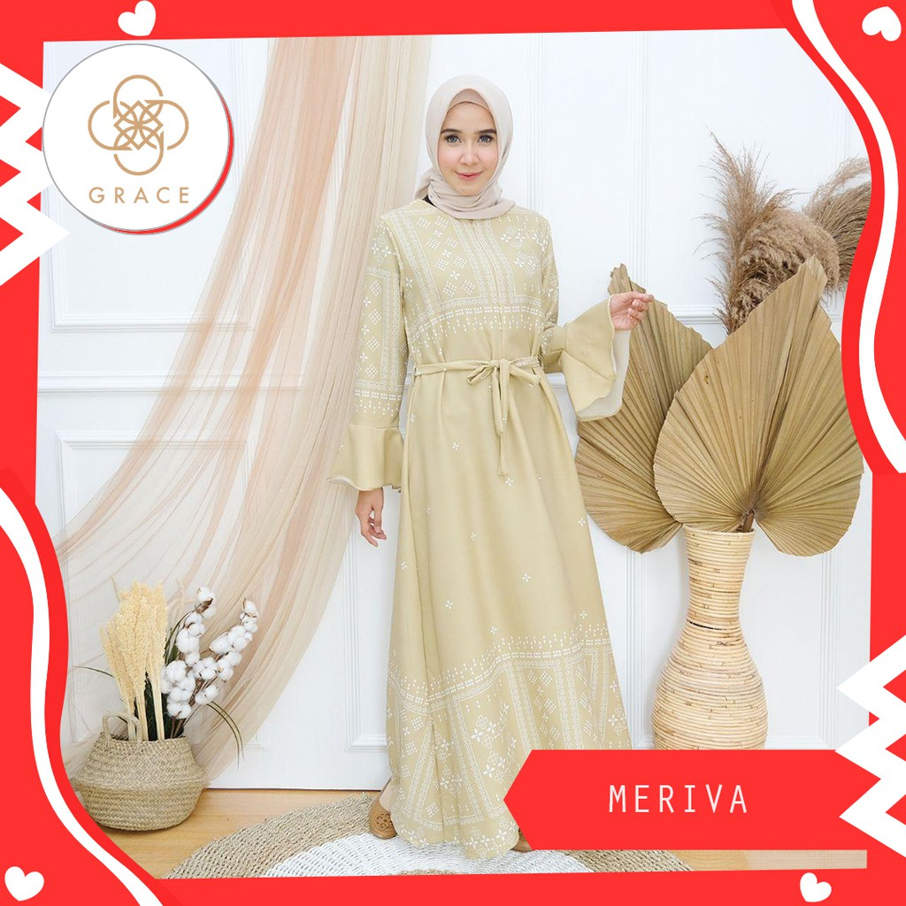 Grace - Dress Meriva Gamis Busui Friendly Gamis Fashion Muslim
