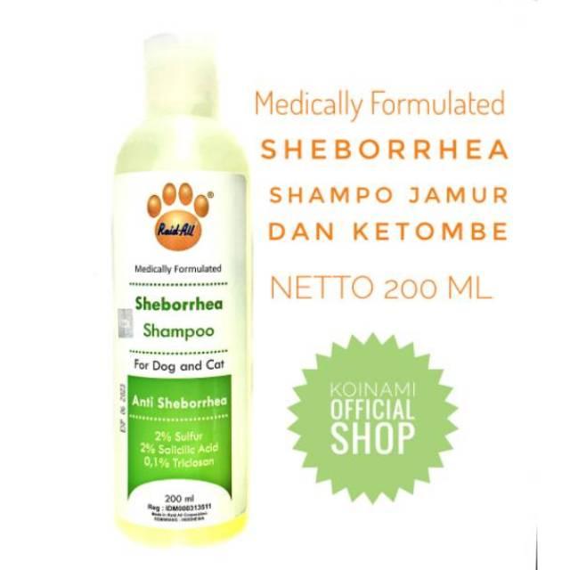 SHAMPO SHEBORRHEA 200ml hijau / SHAMPO jamur kucing anjing / raid all-1