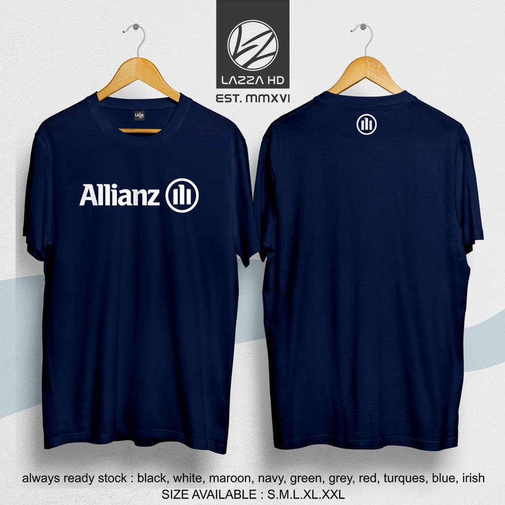 Kaos Baju Distro Asuransi Allianz Logo Kaos Perusahaan Terlaris Shopee Indonesia