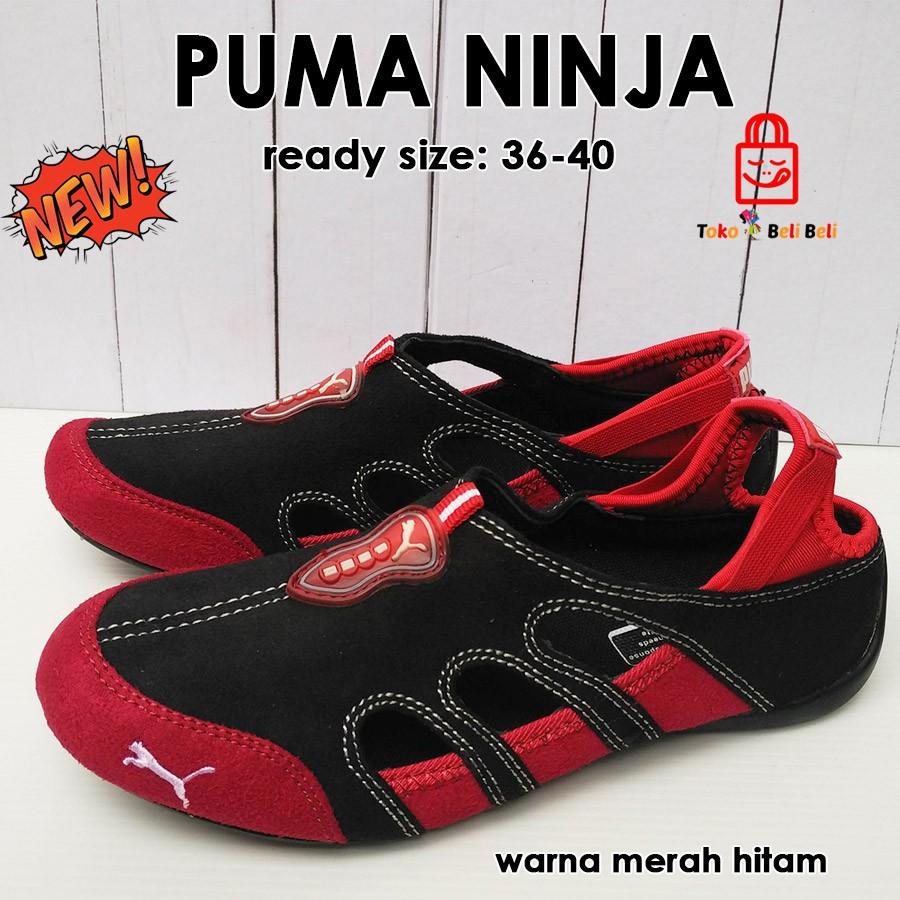 sepatu puma ninja wanita unisex import - merah hitam  acd941cea7
